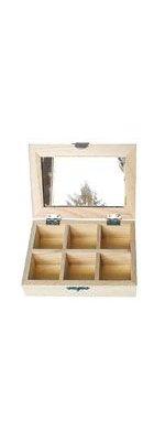 Boîte à bijoux en bois+ miroir 140 mm x 100 mm x 40 mm