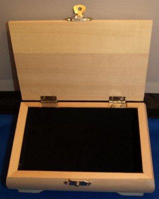 Boîte à bijoux en bois 145 mm x 100 mm x 53 mm+ tissu