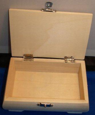Boîte à bijoux en bois 145 mm x 100 mm x 53 mm
