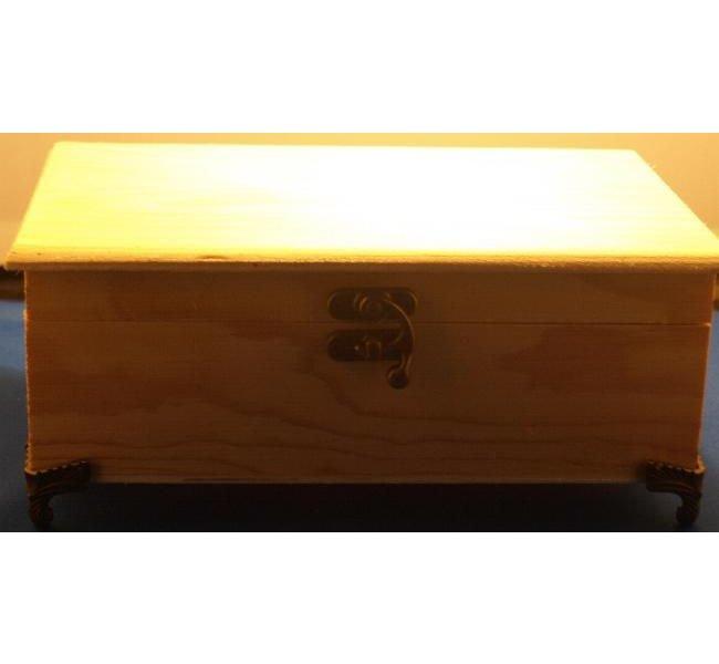 Boîte à bijoux en bois 220 mm x 140 mm x 80 mm