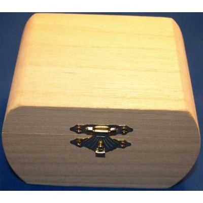 Boîte à bijoux en bois 75 mm x 75 mm x 60 mm