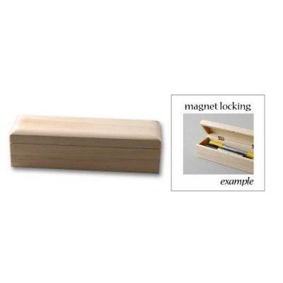 Boîte à crayons fermeture aimantée 20,5 x 5,8 x 6 cm