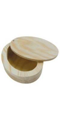 Boite ovale couvercle pivotant 140x100x32 mm