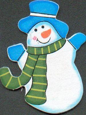 D co no l bonhomme de neige en bois avec chapeau - Bonhomme de neige en bois ...