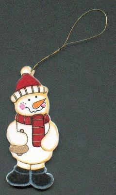 Bonhomme de neige en bois avec cloche