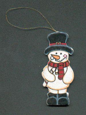 Bonhomme de neige en bois avec écharpe