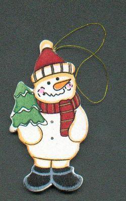 D co no l bonhomme de neige en bois avec petit sapin - Bonhomme de neige en bois ...