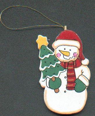 D co no l bonhomme de neige en bois avec sapin - Bonhomme de neige en bois ...