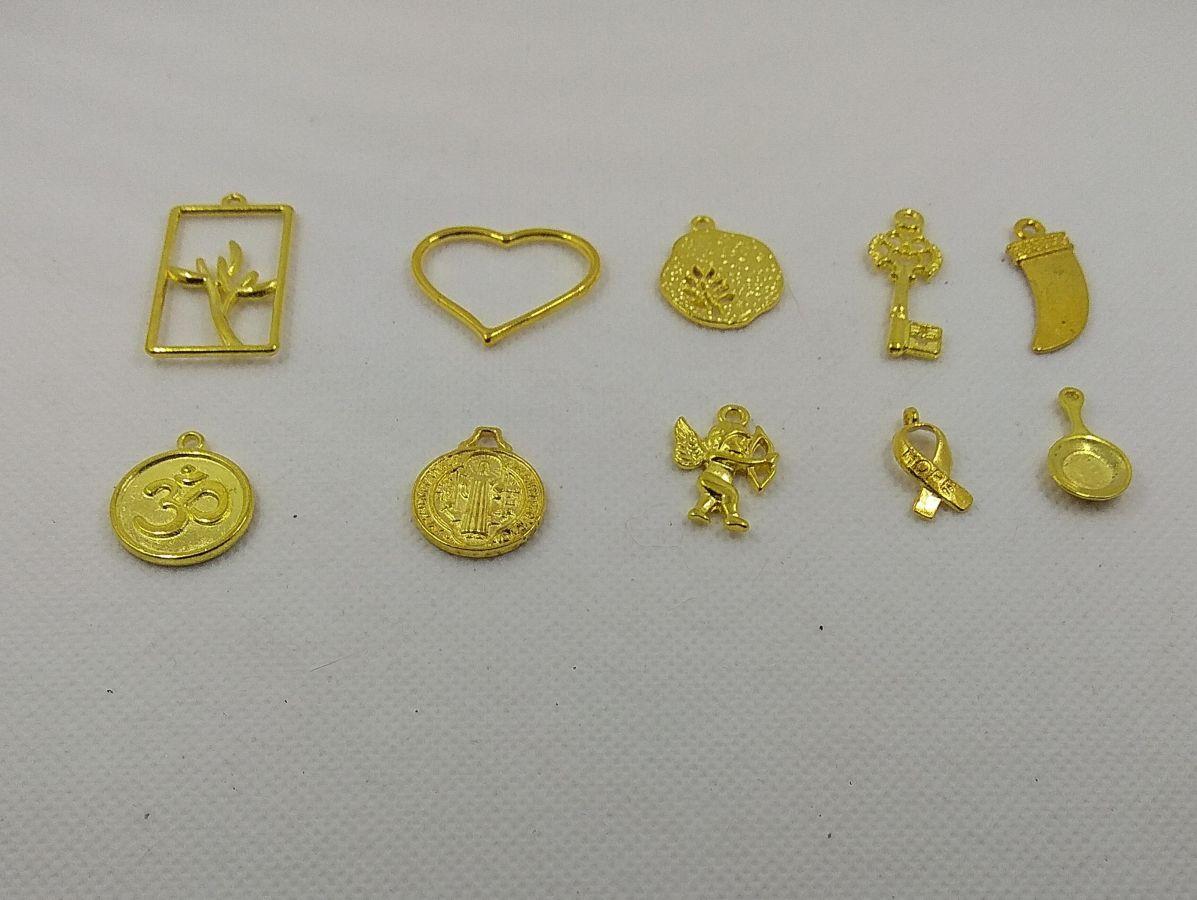 Breloques métal motif coeur lot de 10 pièces