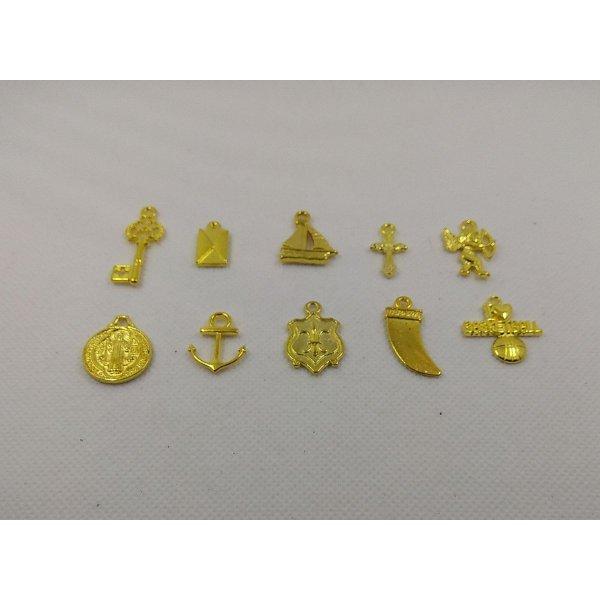 Breloques métal motif clé lot de 10 pièces