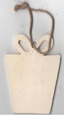 Cadeau en bois à peindre 80 mm x 50 mm