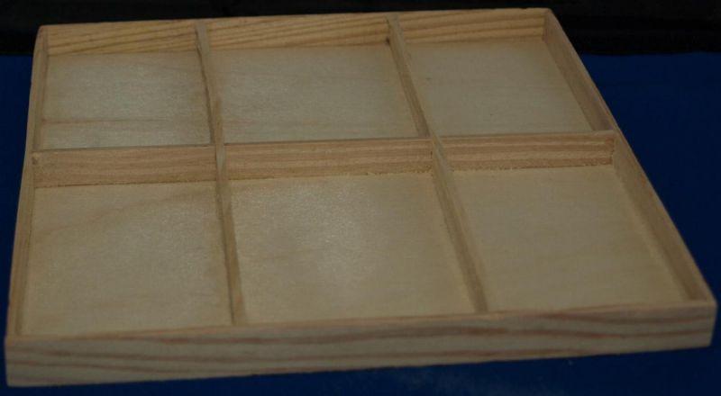 bois brut cadre bois collection 6 cases 185 mm x 155 mm. Black Bedroom Furniture Sets. Home Design Ideas