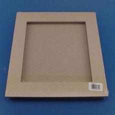 Support cadre mdf 3d fen tre m dium 28 x 28 cm - Cadre photo a peindre ...