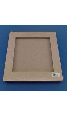 Cadre MDF 3D fenêtre médium 28 x 28 cm