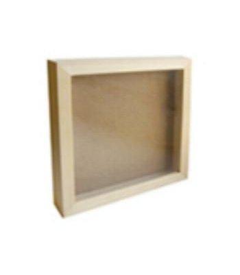 bois brut cadre vitrine en bois 150 x 150 mm x 40 mm. Black Bedroom Furniture Sets. Home Design Ideas