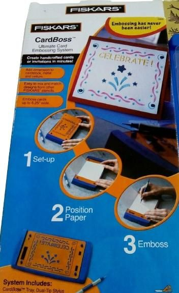 CardBoss kit pour embossing carte 3D