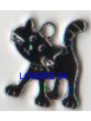 Chat pendentif noir 25 mm