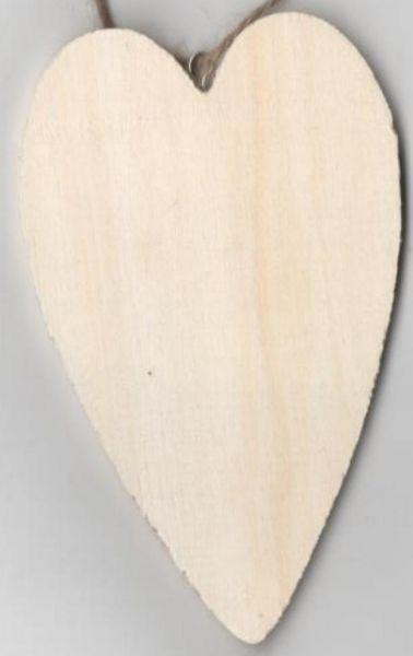 Coeur en bois à peindre 120 mm x 60 mm