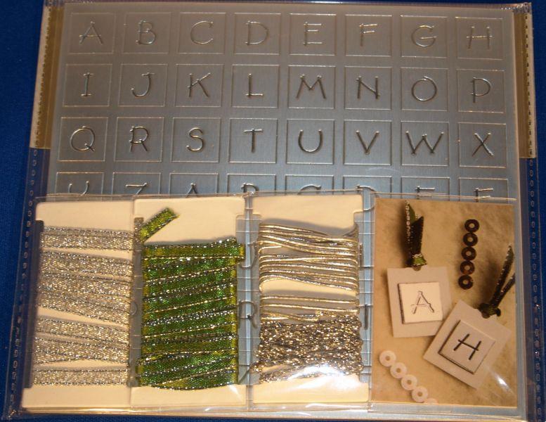 Coffret décoration Alphabet couleur argent