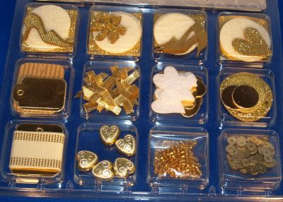 Coffret décoration scrap or