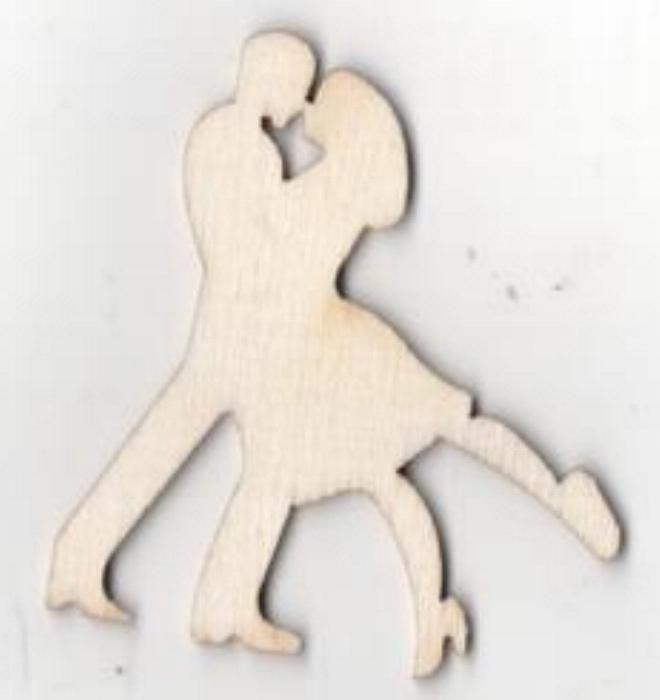 Couple danseurs bois 50 mm x 40 mm