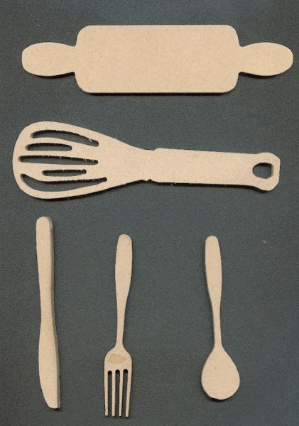 Couverts MDF lot de 5 pieces
