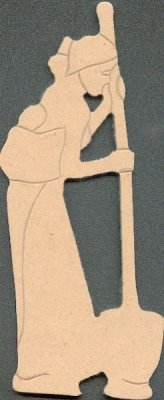 Femme Massai MDF à peindre 170 mm x 70 mm