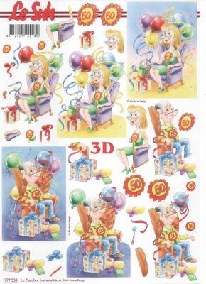 Feuille 3D 50 ans