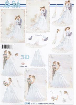 Feuille 3d divers feuille 3d couple de mari - Fournitures loisirs creatifs ...