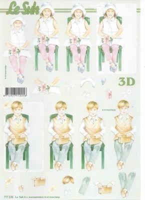 Feuille 3D  garçon et fille