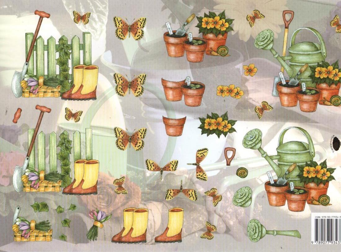 Feuille 3D jardinage et Printemps