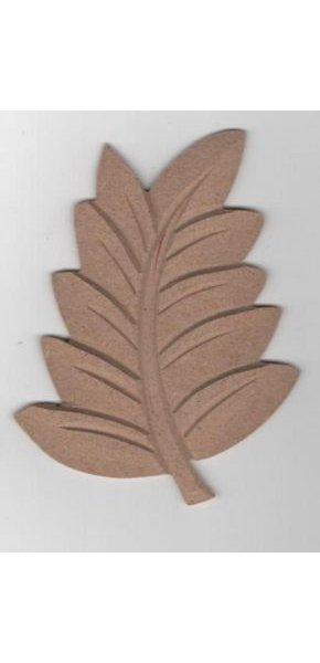 Feuille automne MDF à peindre 120 mm