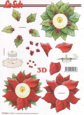 Feuilles 3D Couronne fleur de Noël