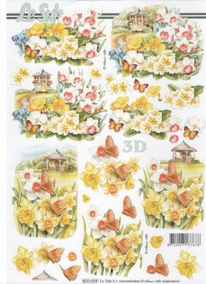 Feuille 3d fleurs feuilles 3d d couper jonquille - Fournitures loisirs creatifs ...