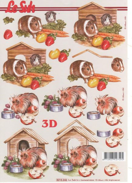 Feuille 3d animaux feuilles 3d hamster d couper - Fourniture loisirs creatifs ...
