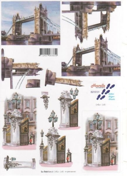 Feuilles 3D Londres à découper