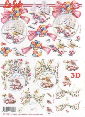 Feuilles 3D Noël et hiver