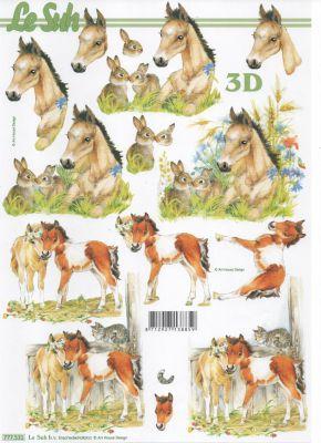 Feuilles 3D 2 poneys