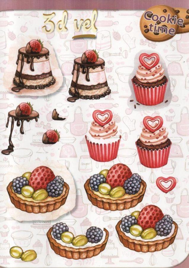 Feuilles 3D tarte aux fruits et gâteaux