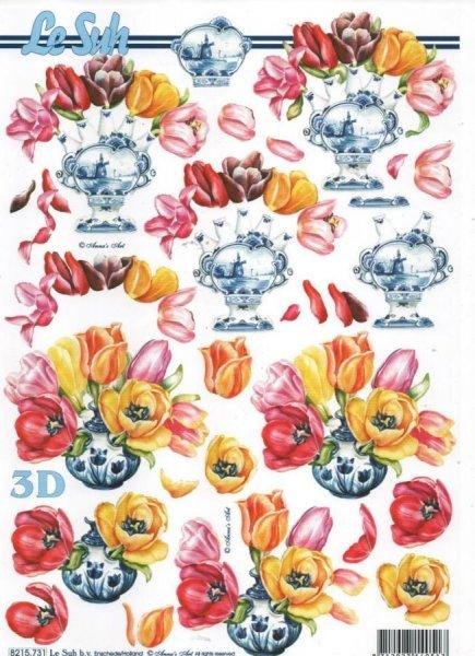 Feuilles 3D tulipes et Hollande