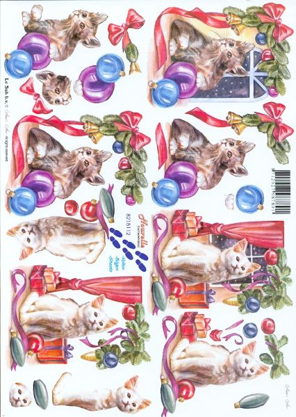 Feuille 3d animaux feuilles d couper 3d chats - Fourniture loisirs creatifs ...