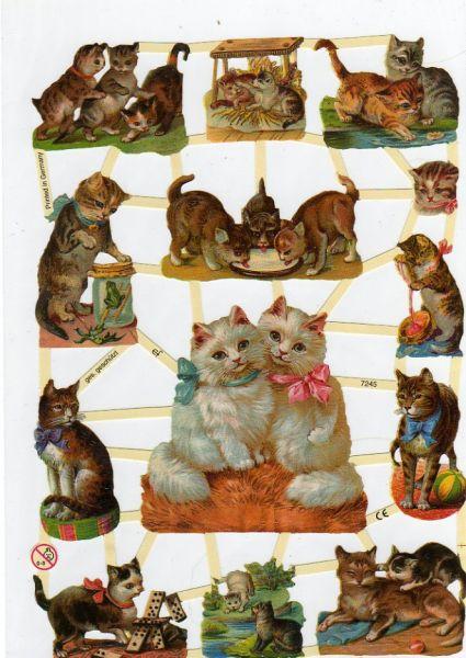 Feuille 3d animaux feuilles d couper 3d chats - Fournitures loisirs creatifs ...