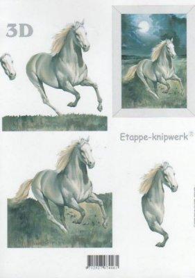 Feuilles à découper 3D cheval