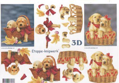 Feuilles à découper 3D petit chiots