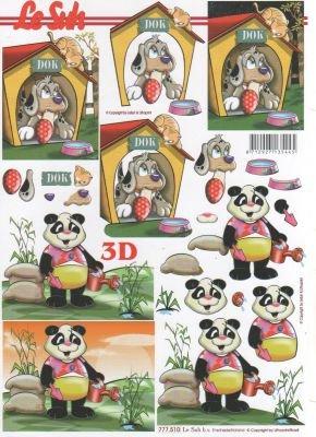 Feuilles à découper 3D panda