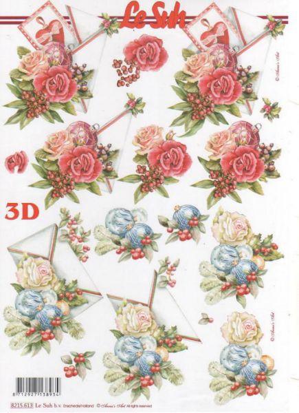 Feuille 3d fleurs feuilles d couper 3d roses et boules - Fourniture loisirs creatifs ...