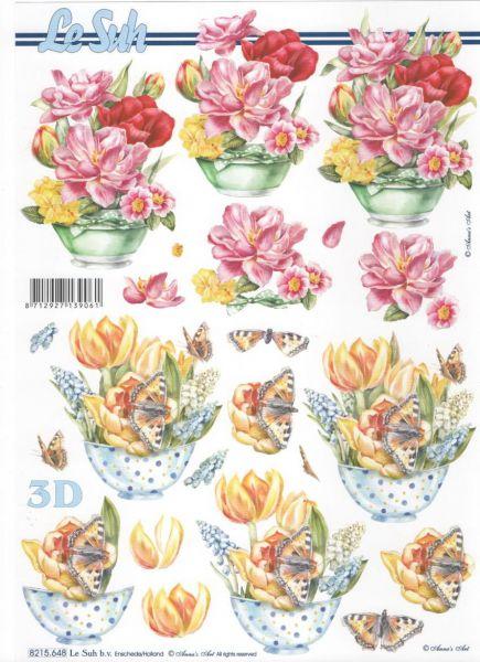 Feuille 3d fleurs feuilles d couper 3d tulipes et - Fournitures loisirs creatifs ...