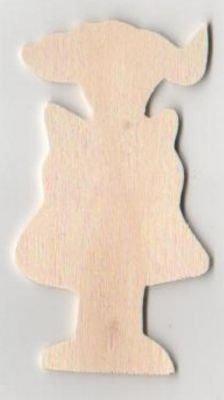 Fille en bois à peindre 80 mm x 30mm