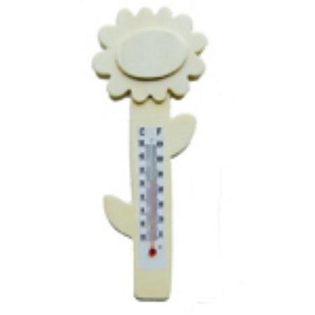 Fleurs Thermomètre bois 160 mm