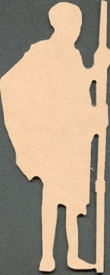 Homme Massai MDF à peindre 170 mm x 70 mm